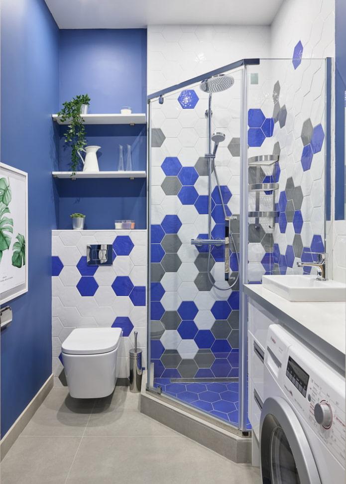 ванная с душевой в квартире хрущевке
