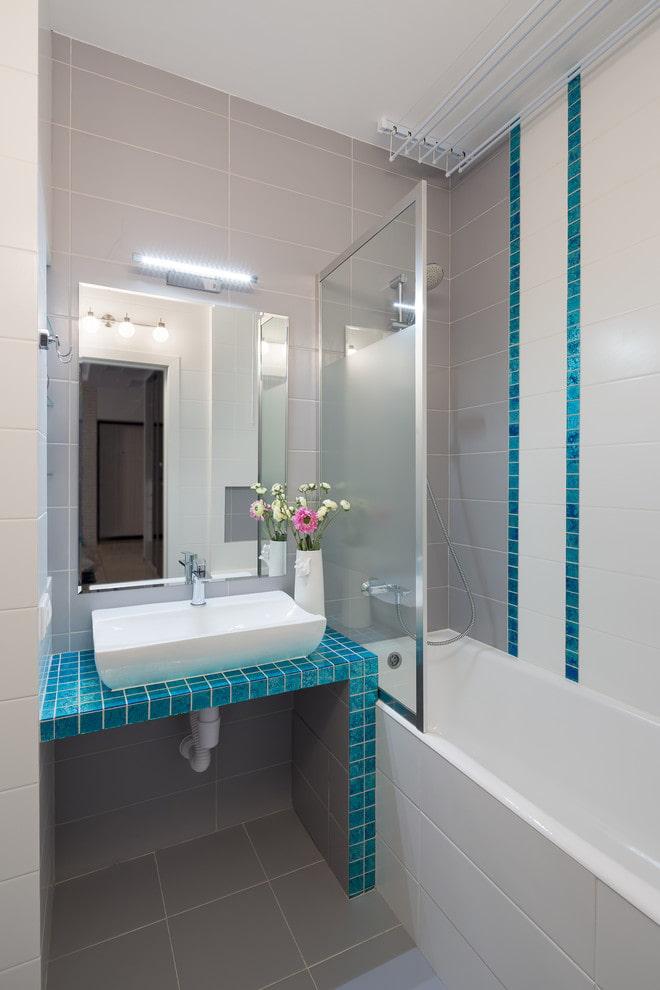 разделенная ванная в квартире хрущевке