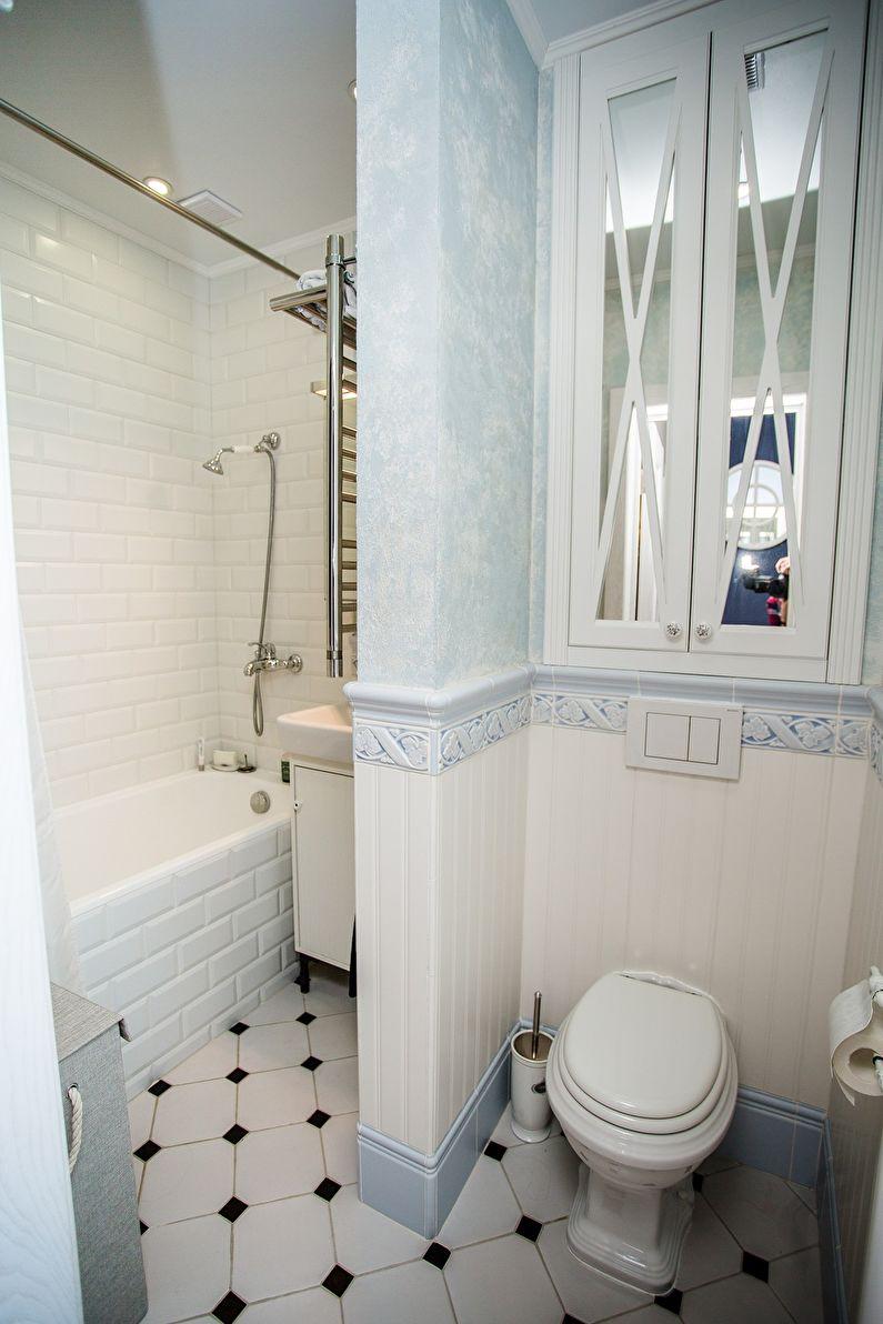 Дизайн ванной комнаты в хрущевке - стиль прованс