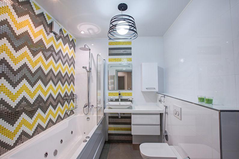 Дизайн маленькой ванной комнаты в современном стиле
