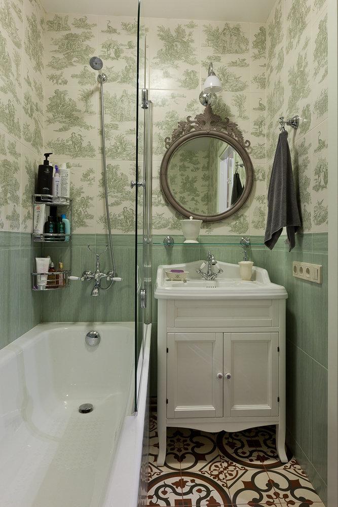 Дизайн маленькой ванной комнаты в классическом стиле