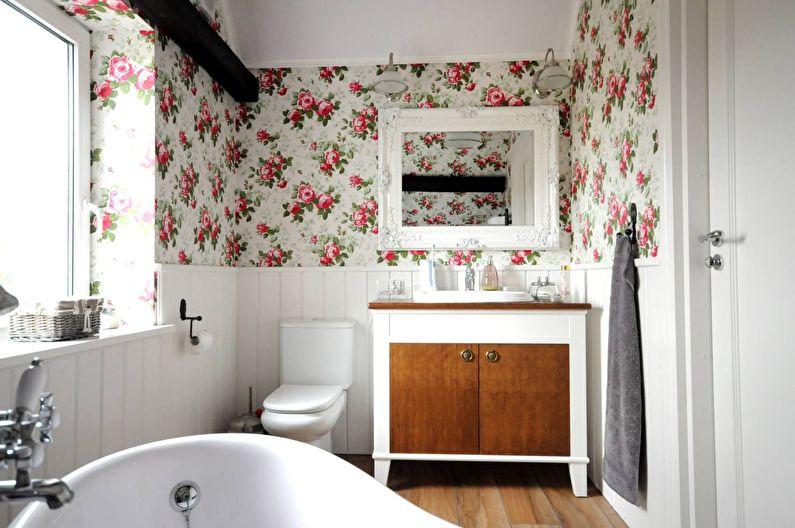 Дизайн маленькой ванной комнаты в стиле прованс