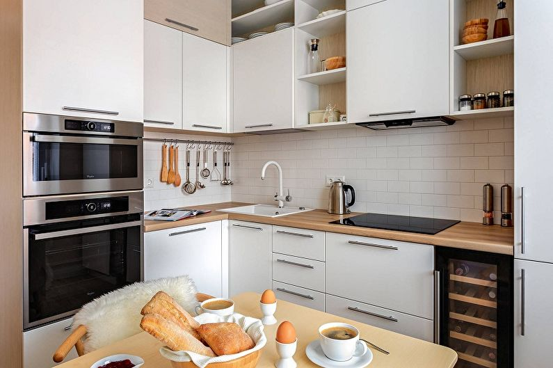Дизайн маленькой белой кухни