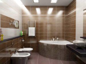 Потолочное освещение в ванной