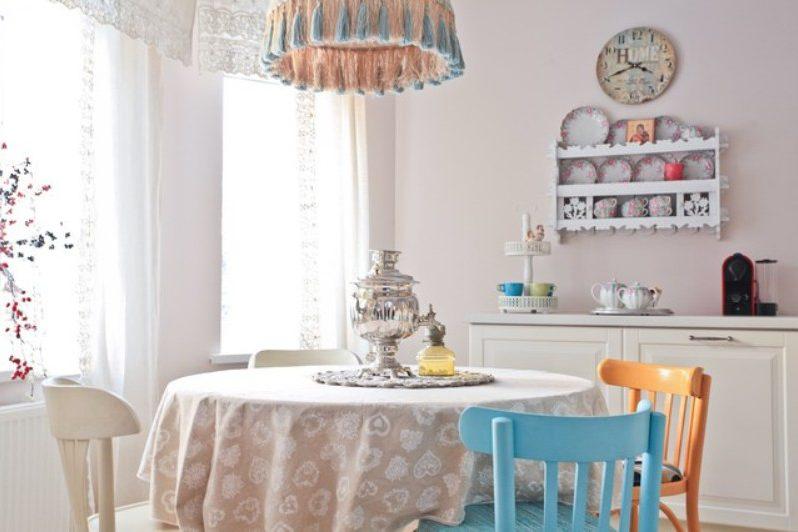 Дизайн кухни в дачном стиле