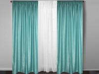 Бирюзовые шторы — обзор преимуществ, красивые варианты применения и примеры использования в дизайне (135 фото + видео)