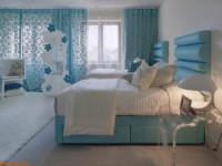Голубая спальня — 105 фото и видео мастер-класс как оформить спальню в голубых тонах
