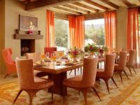 Оранжевые шторы — 125 фото красивых сочетаний и ярких идей применения оранжевого при оформлении интерьера