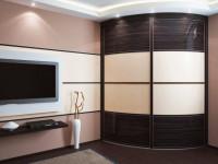 Радиусные шкафы — практичные варианты и современные модели оформления. 100 фото радиусных моделей