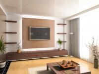 Телевизор в гостиной — правила размещения, варианты установки и советы по креплению телевизоров (85 фото и видео)