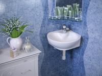 Угловая раковина в ванную — современные модели, идеи размещения и советы экспертов по выбору (95 фото)