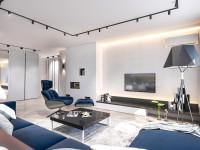 Стильно освещенная гостиная