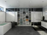 Виды встроенных шкафов купе в ванную комнату