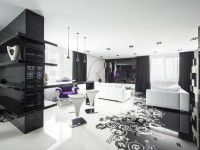 Черно-белый дизайн квартиры — нескучный интерьер