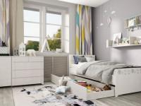 Дизайн детской комнаты для мальчиков и девочек в белом цвете