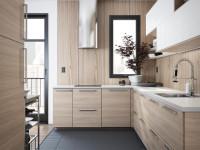 Дизайн кухни под дерево в современном стиле, варианты премиум-оформления кухни под дерево, кухня из дерева своими руками «от» и «до»