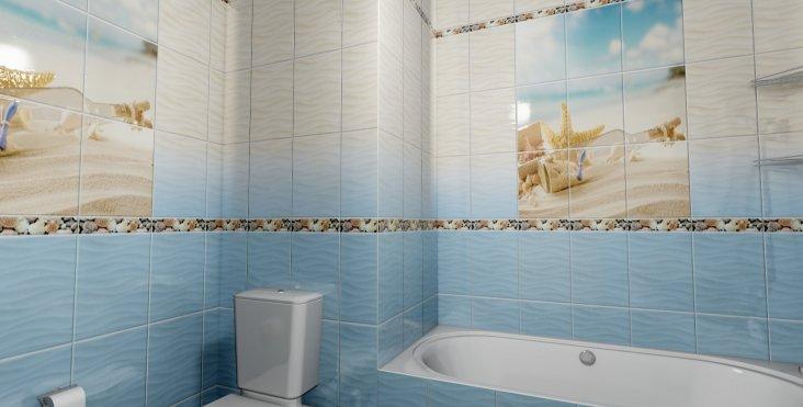 Панели ПВХ с фризом для ванной комнаты  виды характеристики и монтаж
