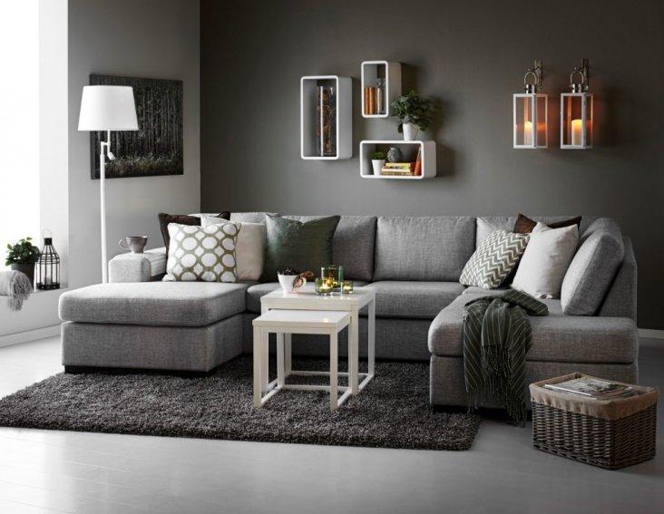Серые стены в интерьере 71 фото сочетание светло-серых и темно-серых обоев с голубым белым и бежевым цветами Как подобрать шторы и мебель в спальню