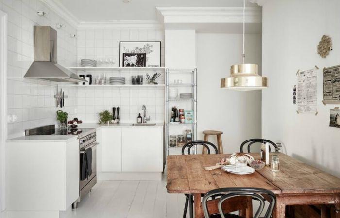 кухня без верхних шкафов угловая