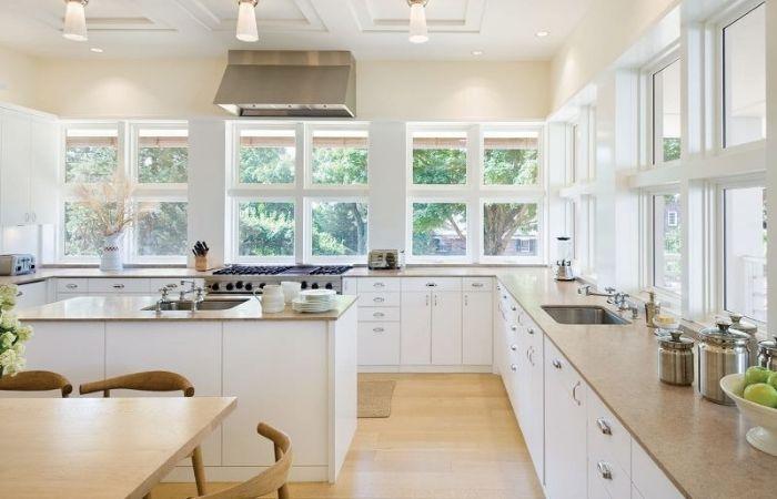 кухонный гарнитур без навесных шкафов