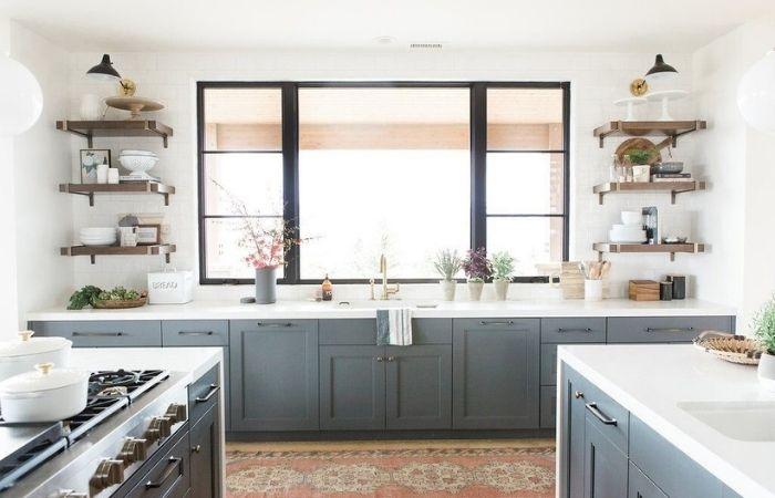 кухонные гарнитуры без навесных шкафов