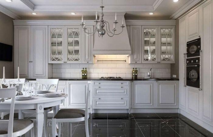 кухня неоклассика белая