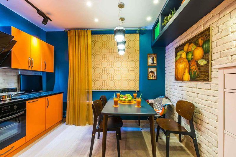 В какой цвет покрасить кухню в квартире
