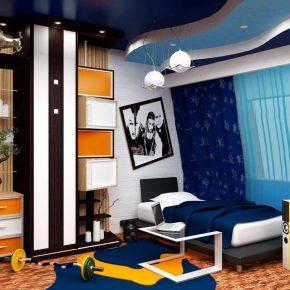 Комната для подростка-мальчика: идеи интерьера спальни в современном стиле