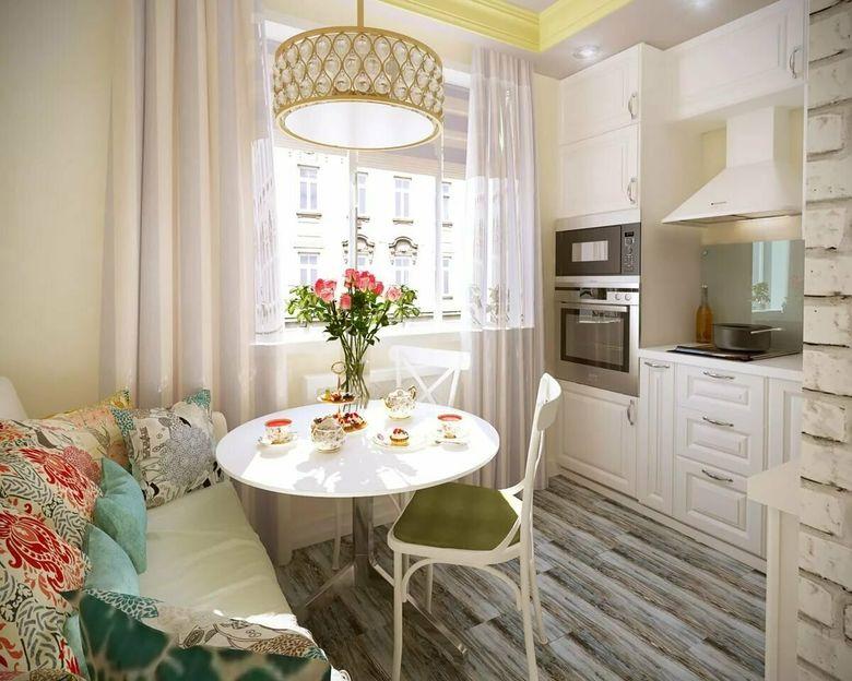 Кухни с диваном в интерьере