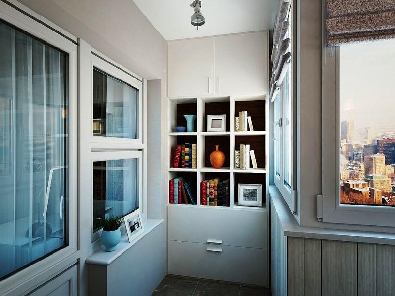 Шкафы на балконе: интересные идеи